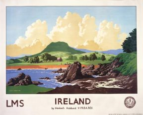 Cushendall, Antrim Coast Road, Northern Ireland. Vintage Travel poster by EH Hubbard